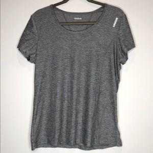 Reebok grey gym workout short sleeve shirt large